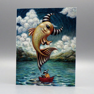 Notecard - Cyclops Fish by Eya Claire