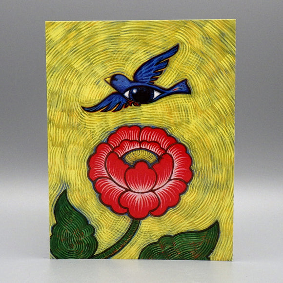 Notecard - Bird & Flower by Eya Claire