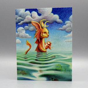 Notecard - Wading Monster by Eya Claire