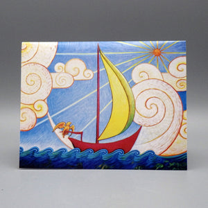 Notecard - Sailboat by Eya Claire