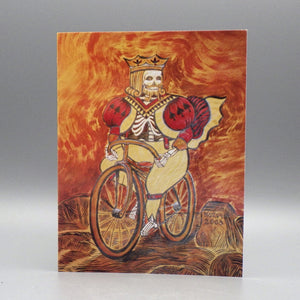 Notecard - Skeleton King on Bicycle by Eya Claire