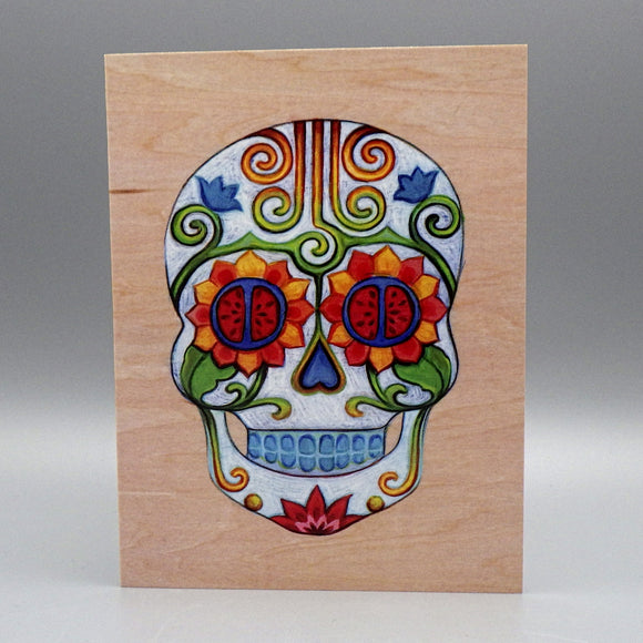 Notecard - Sugar Skull by Eya Claire