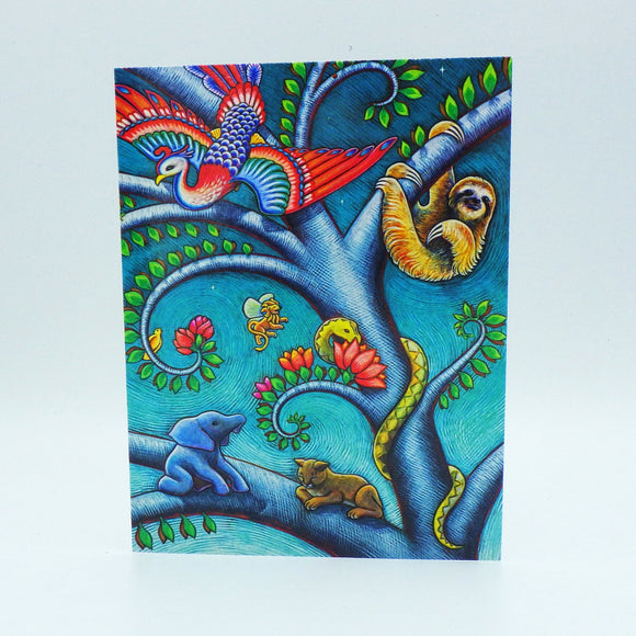 Notecard - Tree of Life Woodland Fantasy by Eya Claire