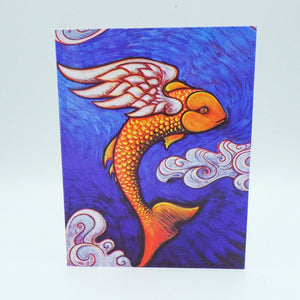 Notecard - Flying Fish by Eya Claire