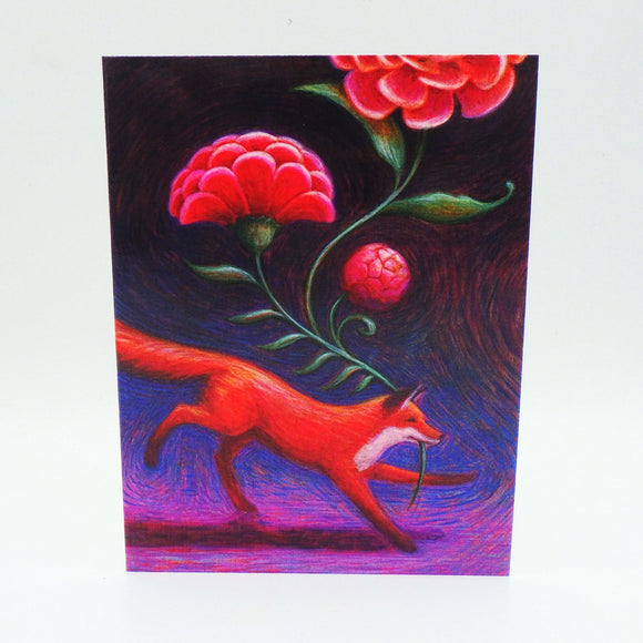 Notecard - Fox and Flower by Eya Claire