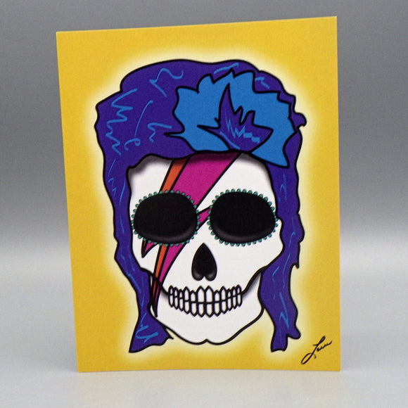 Notecard - Bowie by Frenzy Art