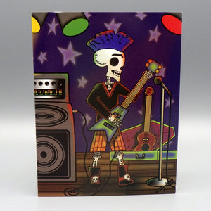 Notecard - El Guitarrista by Frenzy Art