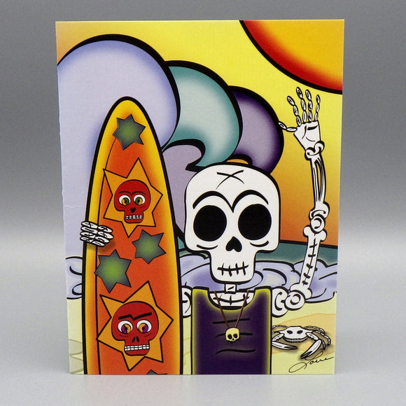 Notecard - El Surfeador by Frenzy Art