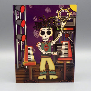Notecard - El Tecladista by Frenzy Art
