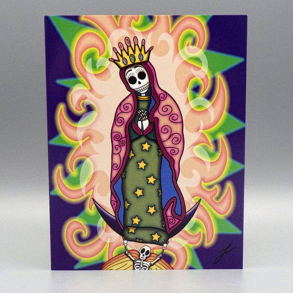 Notecard - La Virgen by Frenzy Art