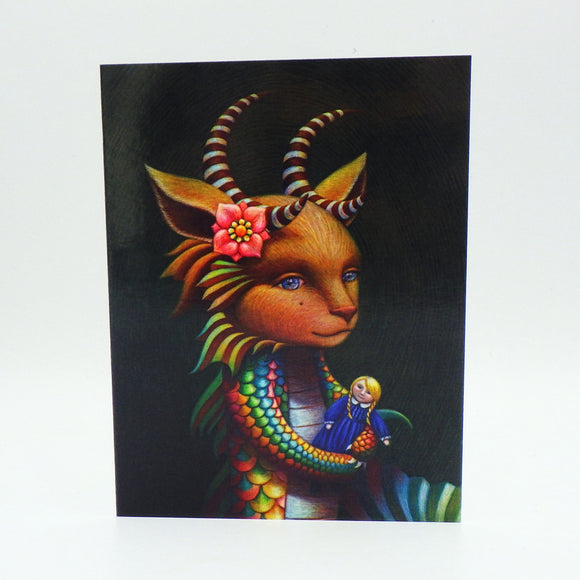 Notecard - Mermaid Monster Child by Eya Claire