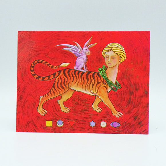 Notecard - Mystical Tiger Monster by Eya Claire