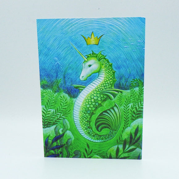 Notecard - Unicorn Mermaid Seahorse by Eya Claire