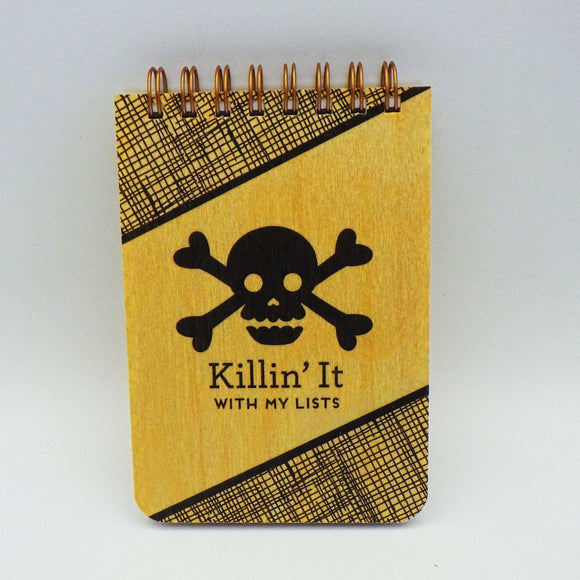 Wooden Notepad - Killin' It