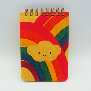 Wooden Notepad - Rainbow