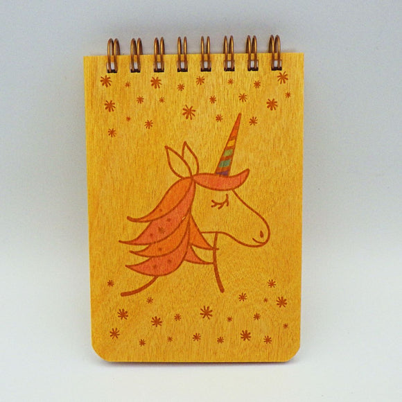 Wooden Notepad - Unicorn