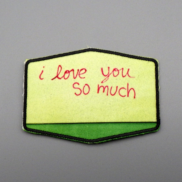 Iron On Patch - I Love You So Much
