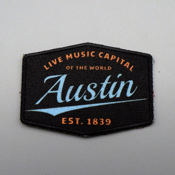 Iron On Patch - Austin Live Music Capital Est. 1839