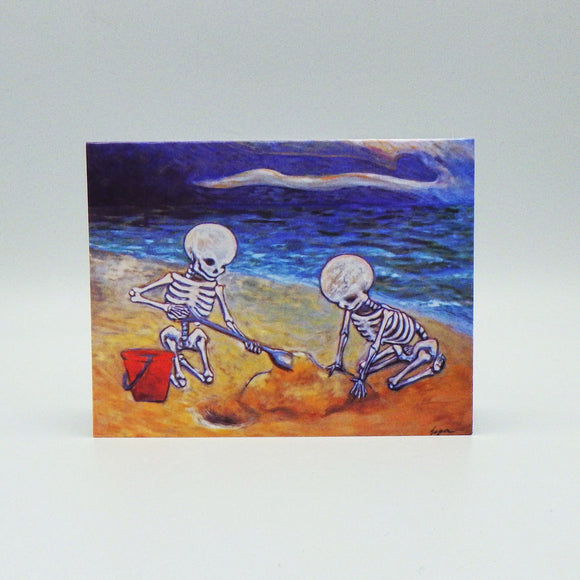 Notecard - Skeletons on the Beach by Eya Claire