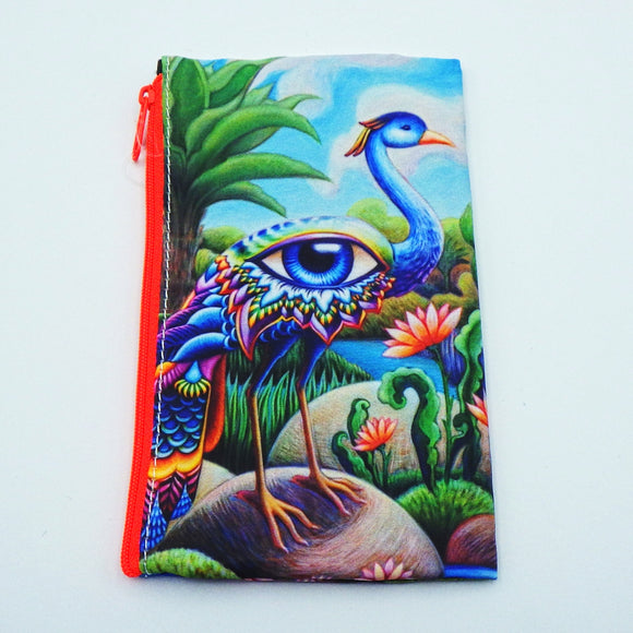 Coin Bag - Tropical Bird of Paradise by Eya Claire