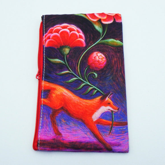 Coin Bag - Fox and Flower by Eya Claire