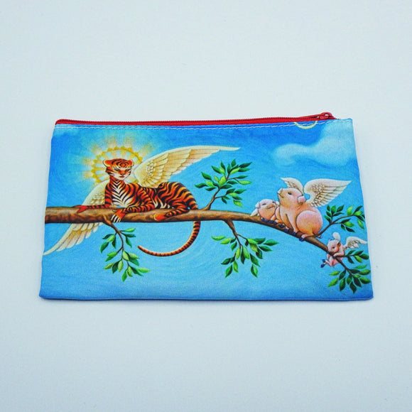 Coin Bag - Winged Tiger and Winged Pigs by Eya Claire