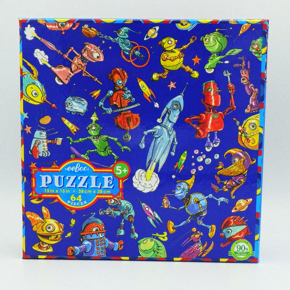 Kids' Jigsaw Puzzle - Lots of Robots (64 Pcs)