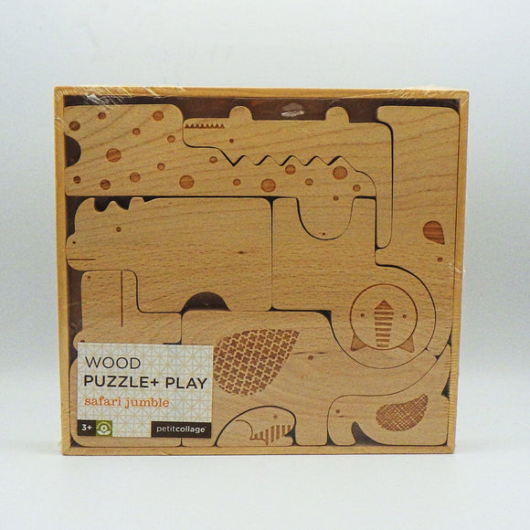 Kids' Wood Puzzle - Safari Jumble