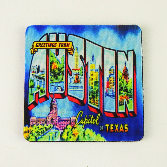 Rubber Coaster - Greetings from Austin Mural