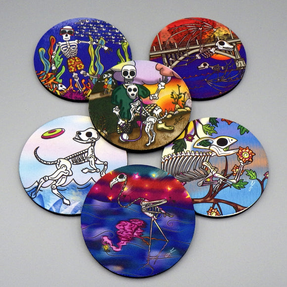 Rubber Coasters - Creatures Set by Frenzy