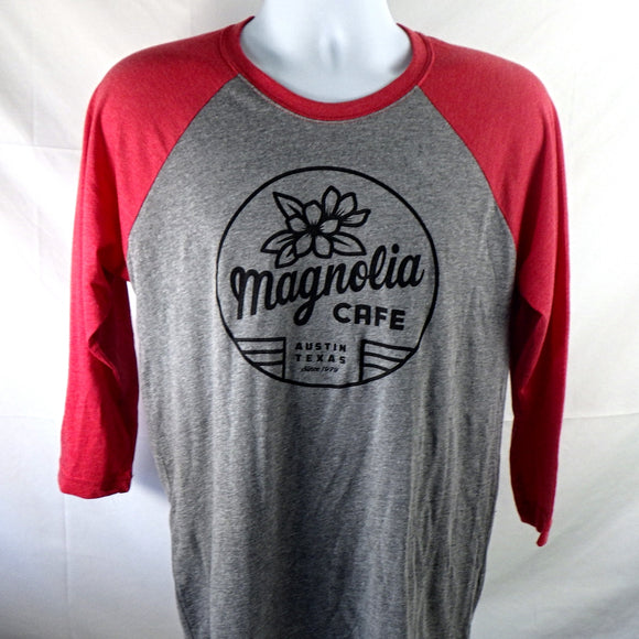 Shirt - Magnolia Baseball Sleeve, Red