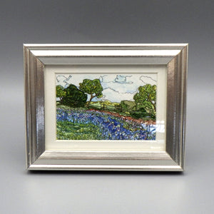 "Framed Print - Bluebonnets by Connie Adcock (3"" x 2"")"