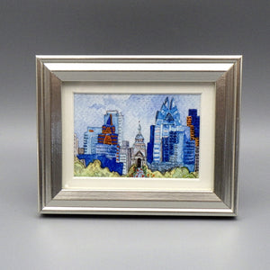 "Framed Print - Downtown Austin by Connie Adcock (3"" x 2"")"
