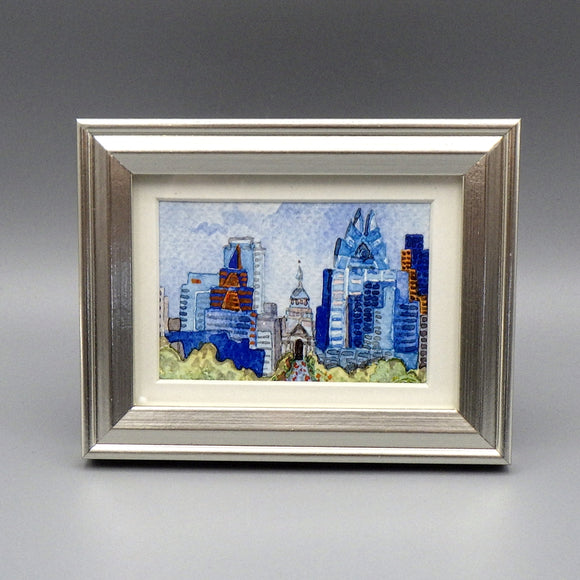 Framed Print - Downtown Austin by Connie Adcock (3