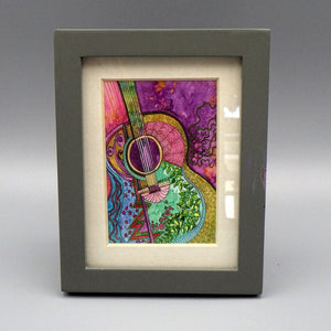 "Framed Print - Hippie Blues by Connie Adcock (3"" x 2"")"