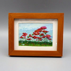 "Framed Print - Field of Poppies by Connie Adcock (3"" x 2"")"