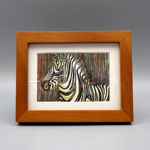 "Framed Print - Stripes by Connie Adcock (3"" x 2"")"
