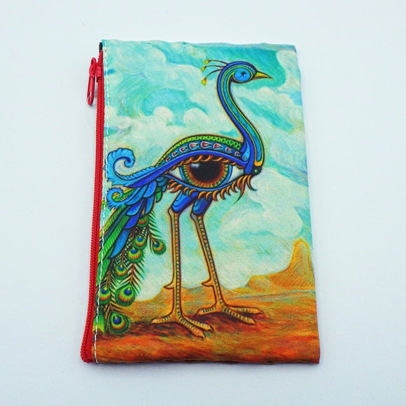 Coin Bag [Small] - Beautiful Peacock by Eya Claire