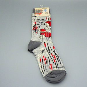 Women's Crew Socks - Being Normal Was Boring