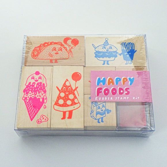 Rubber Stamp Kit - Happy Foods