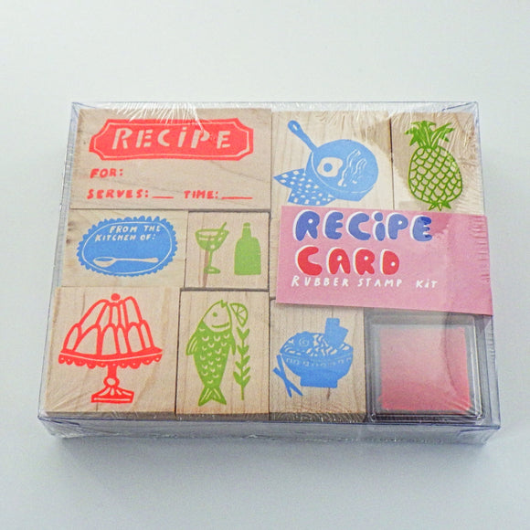 Rubber Stamp Kit - Recipe Cards