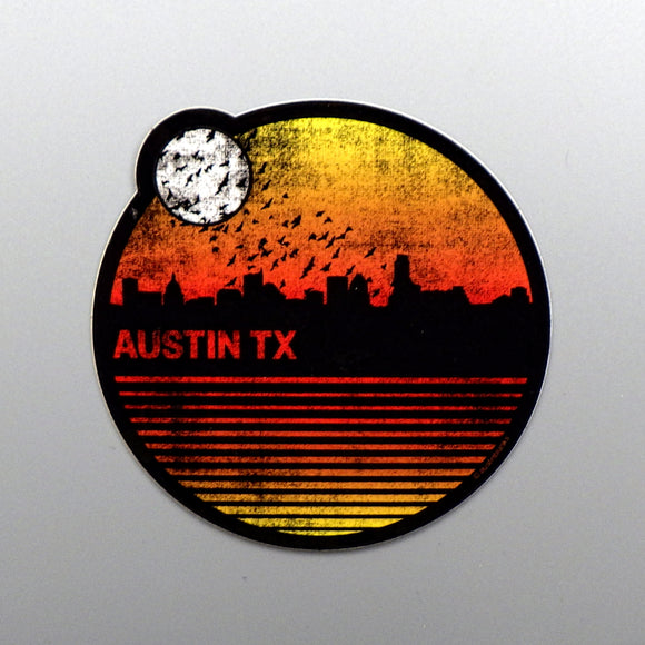Sticker - Austin Bats and Moon