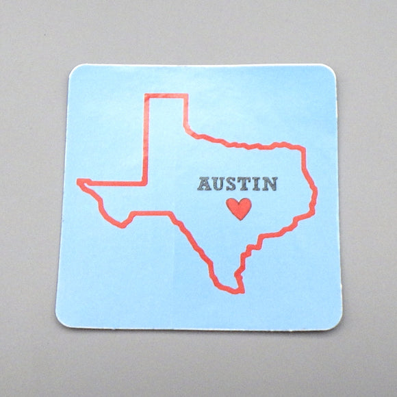 Sticker - Austin Heart of Texas