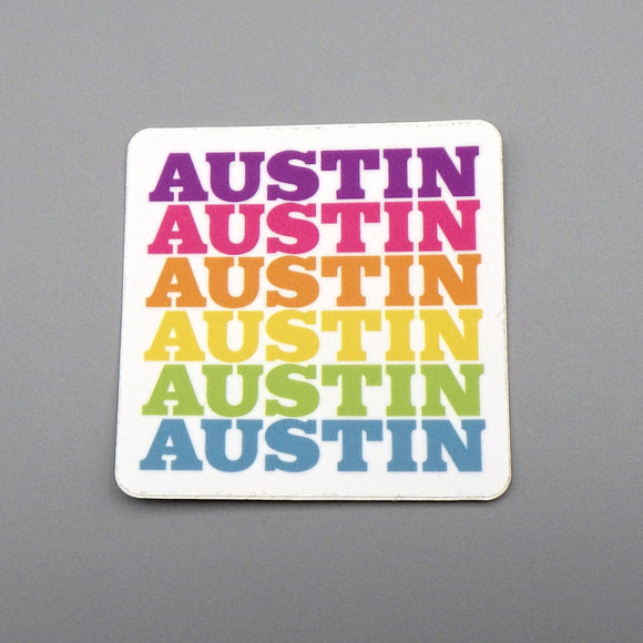 Sticker - Austin Rainbow Fade