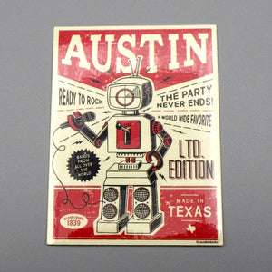 Sticker - Austin Retro Robot