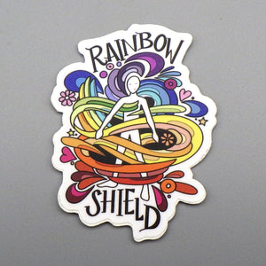 Sticker - Rainbow Shield by Becca Borrelli