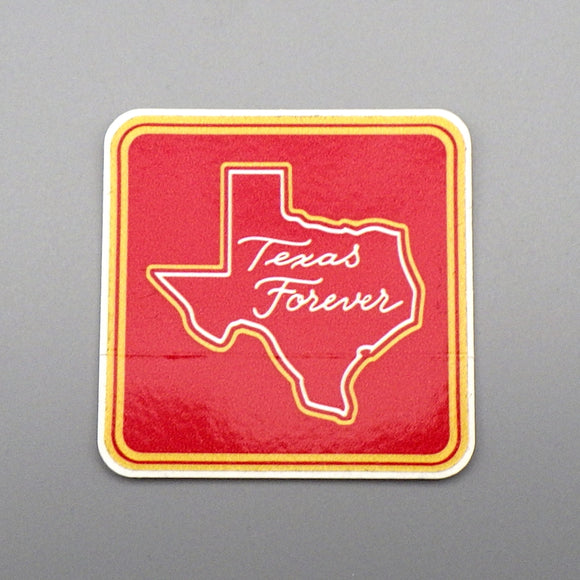 Sticker - Texas Forever, Red on Red