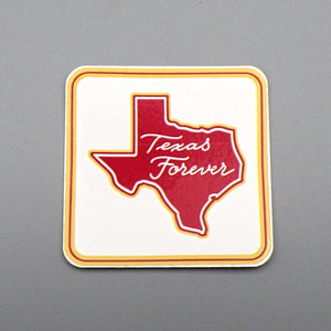 Sticker - Texas Forever, Red on White