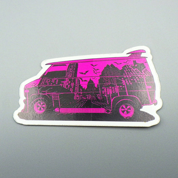 Sticker - Austin Van with Skyline [Violet]