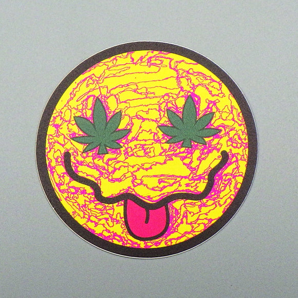 Sticker - Weed Smiley